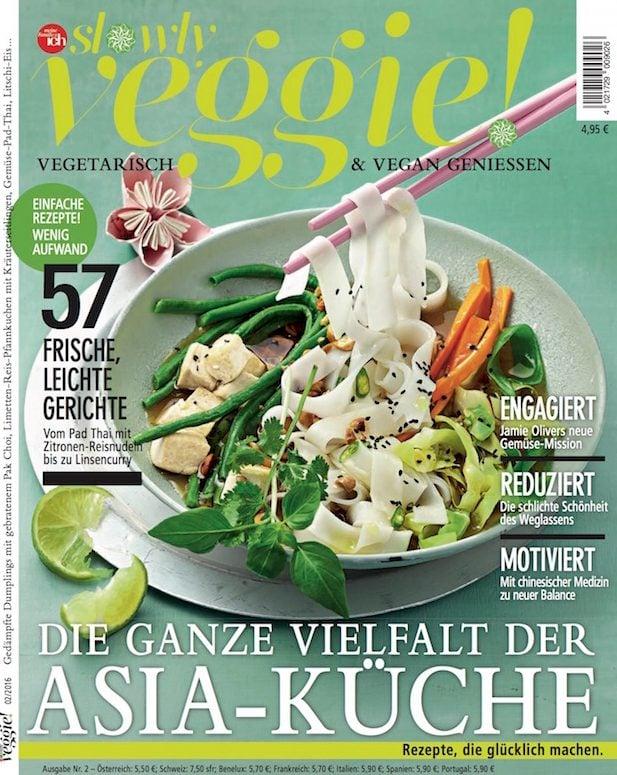 Presse Cover slowly veggie! Magazin
