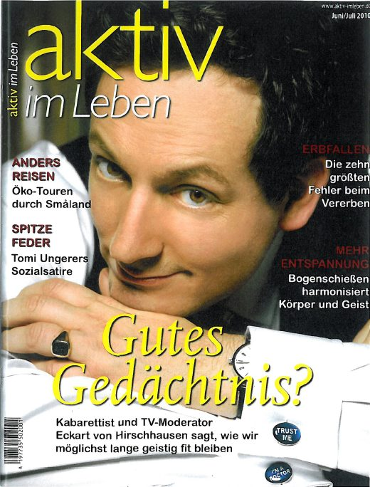 Presse Cover aktiv im Leben Magazin