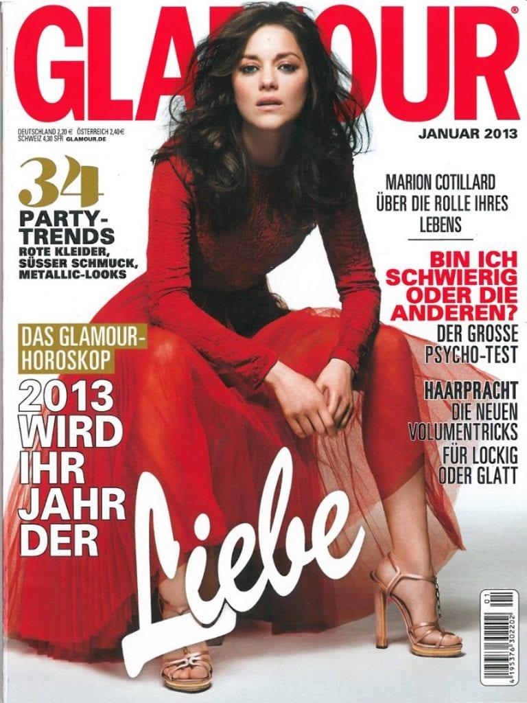 Presse Cover Glamour Magazin