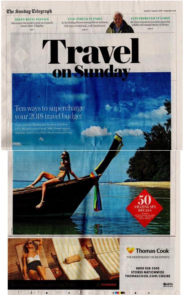 Presse Cover Travel on Sunday Magazin