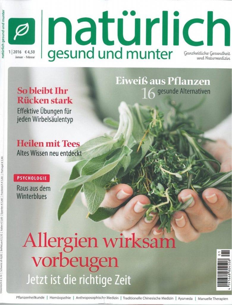 Presse Cover Natürlich gesund und munter Magazin